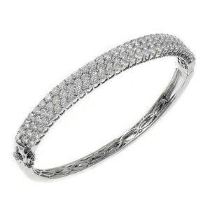 Diamonds Ladies Bangle White Gold 6 Ct Gorgeous Ro
